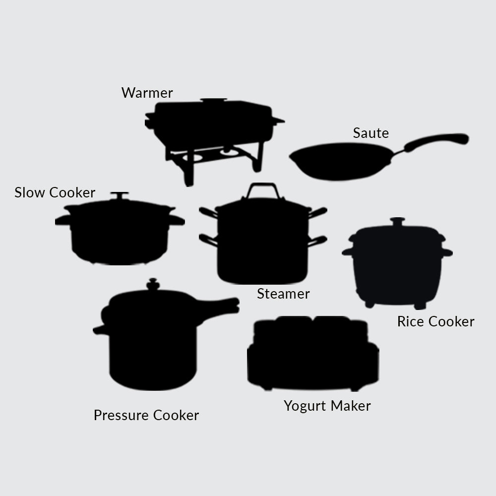 Nutri-Pot Electric Pressure Cooker with 7-in-1 Functions, 3L
