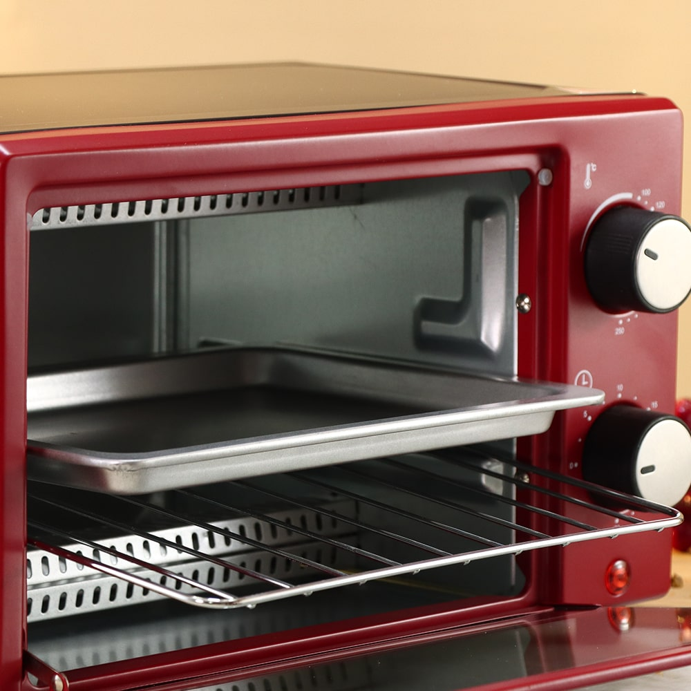 Oven Toaster Griller (OTG) Crimson Edge - 9 Litres - with Auto-shut Off, Heat-resistant Tempered Glass, Multi-stage Heat Selection, 2 Years Warranty, 650W, Red