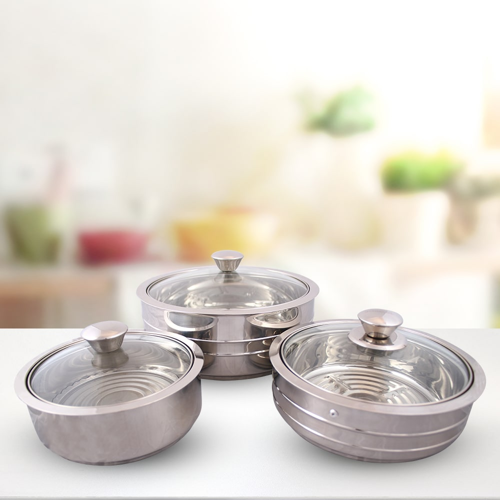 Austin Serving Stainless Steel Casserole, 0.6mm