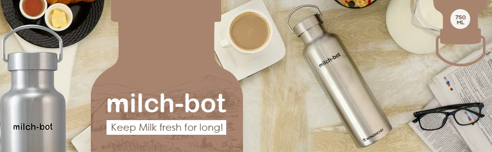 Milch-Bot Double Wall Stainless Steel Vacuum Insulated Hot and Cold Flask