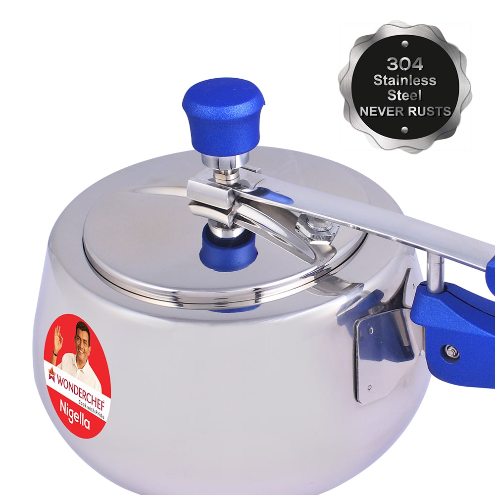 Nigella Stainless Steel Pressure Cooker with Inner Lid - Round, 3L