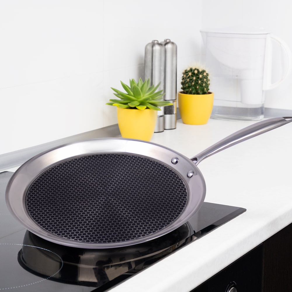Stanton Stainless Steel Nonstick Dosa Tawa- 30cm, 2.5mm