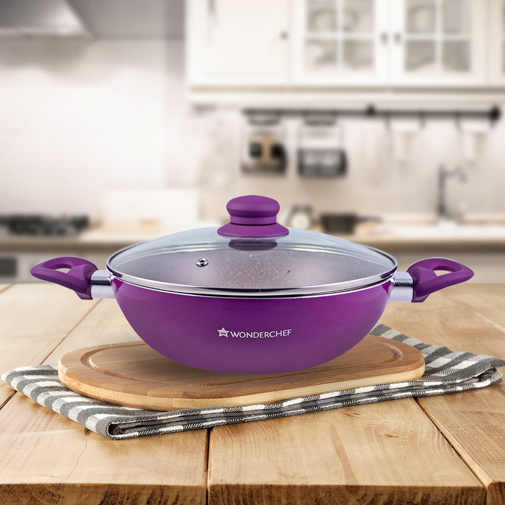 Wonderchef Royal Velvet Wok With Lid
