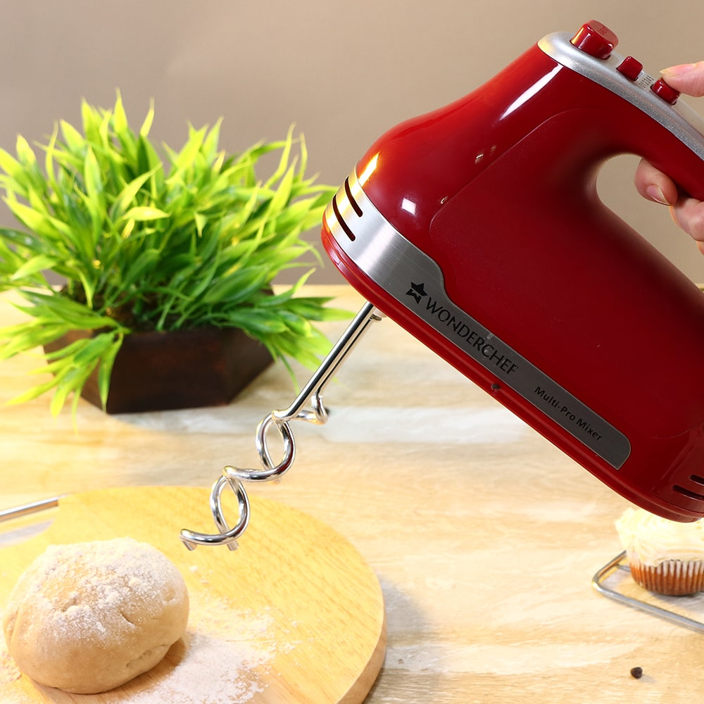 Crimson Edge Hand Mixer, 5 Speed Setting, 300W