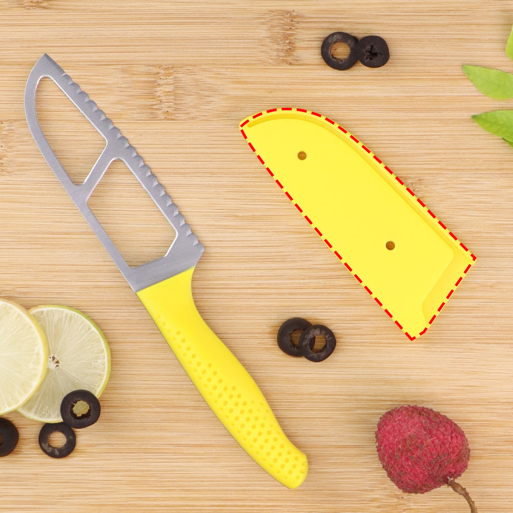 Easy Slice knife 4 inches -Yellow