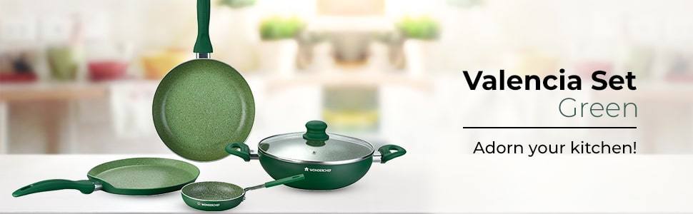 Wonderchef Valencia Set - Green