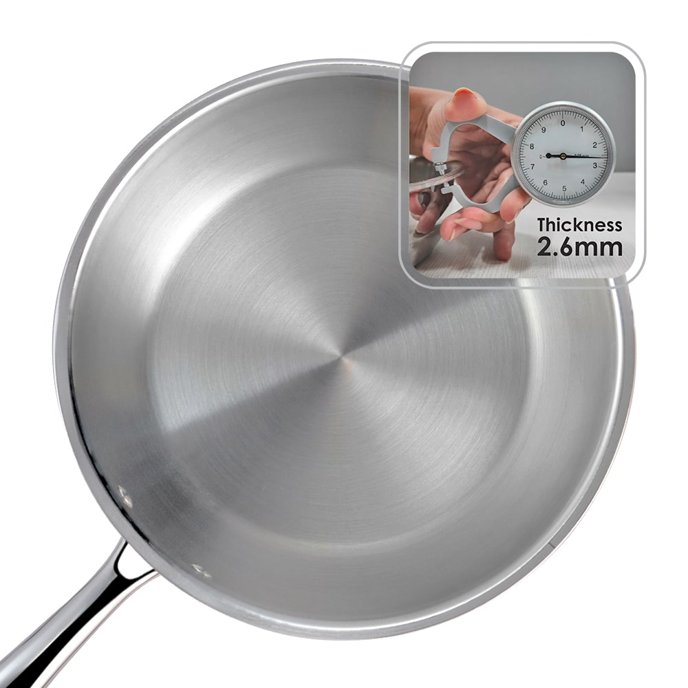 Nigella 3-Ply Stainless Steel Fry Pan 24cm, 2L, 2.6mm