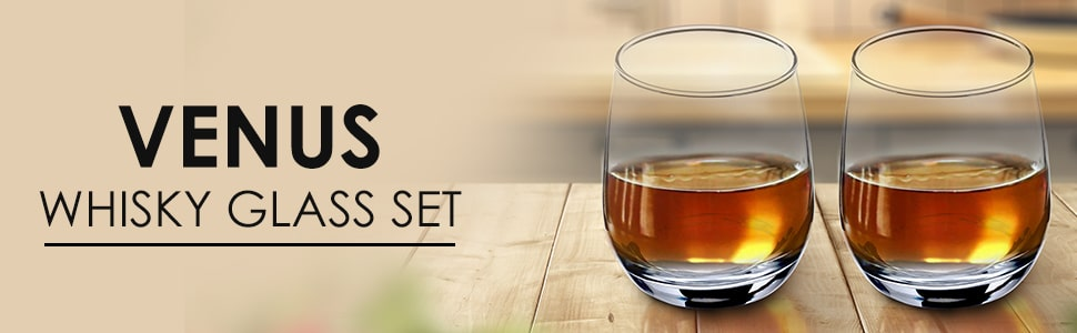 Venus Whisky Glass 350ml - Set Of 6 Pcs By Wonderchef