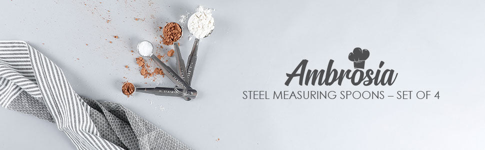 Ambrosia Stainless Steel Measuring Spoons – Set of 4