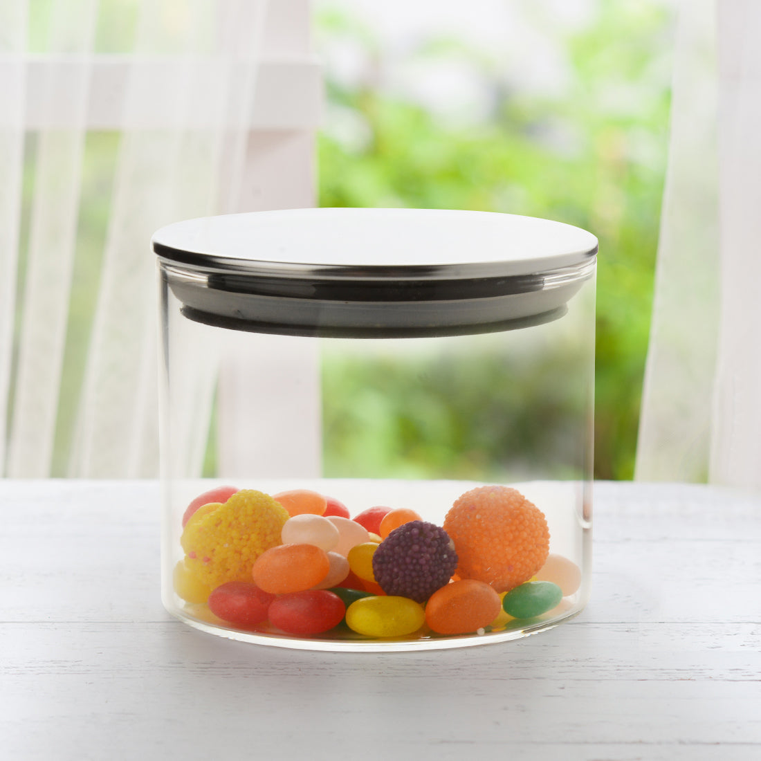 Classic Borosilicate Round Glass Air Tight Jar 350ml - Set Of 2 Pcs By Wonderchef