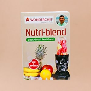 Nutri-blend BOLT-600W Mixer With Compact Food Processor & Atta Kneader, Stronger & Swifter With Sipper Lid, 22000RPM, 4 Unbreakable Jars, Sharper Steel Blades, 2 Yrs Warranty, Red, E-Recipe Book By Chef Sanjeev Kapoor