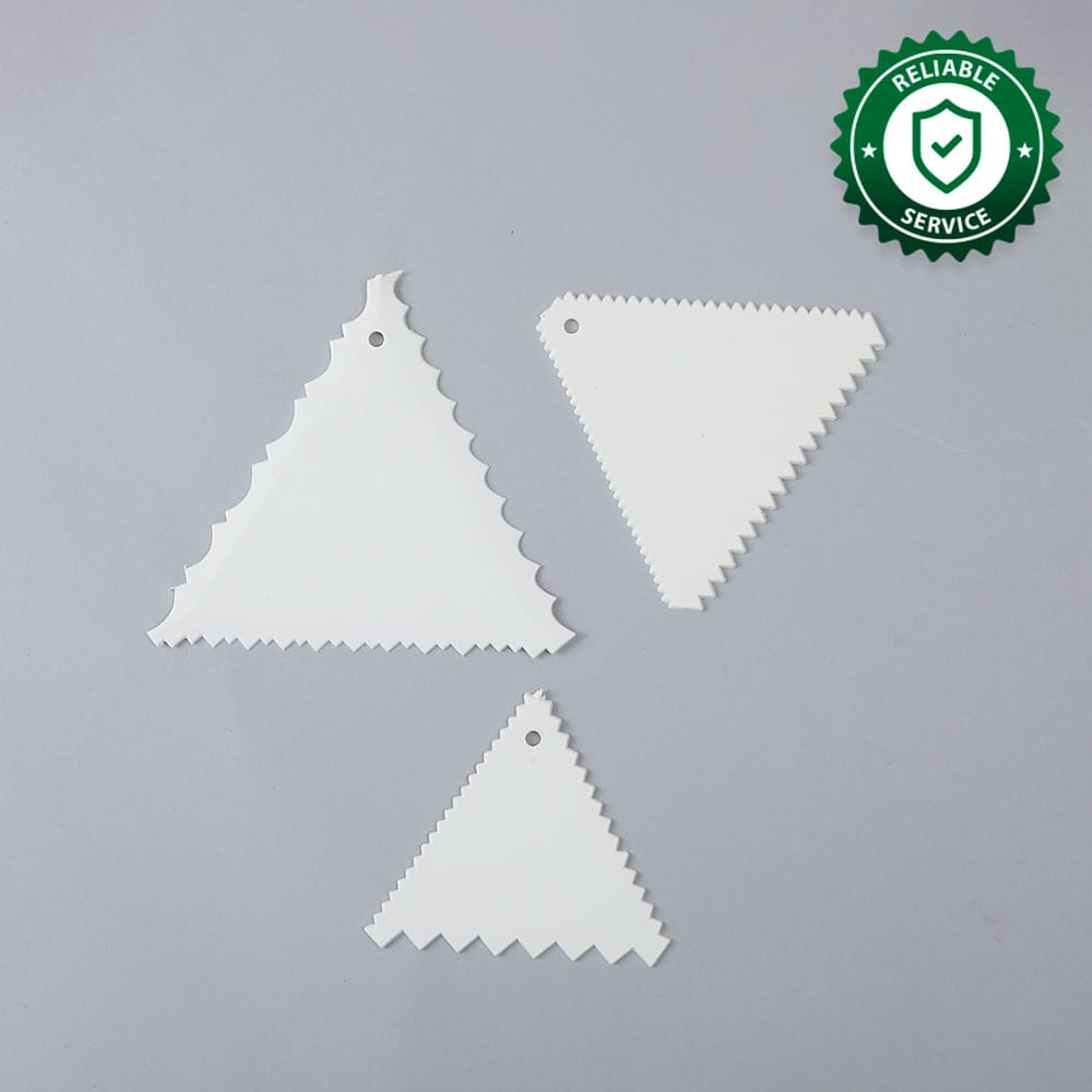 Ambrosia Cake Scrapers (3-in-1) - White