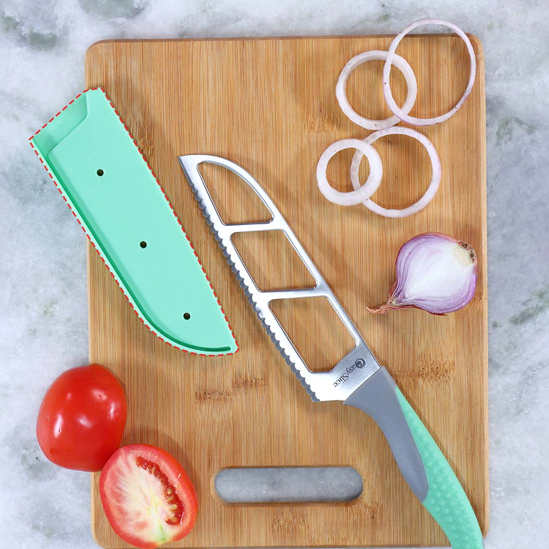 Easy Slice knife 6 inches - Green