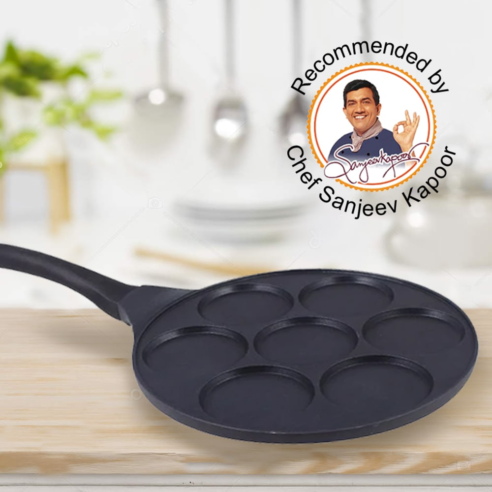 Inducta Aluminium Nonstick Multi Pan 26cm, 270ml, 3mm, Black