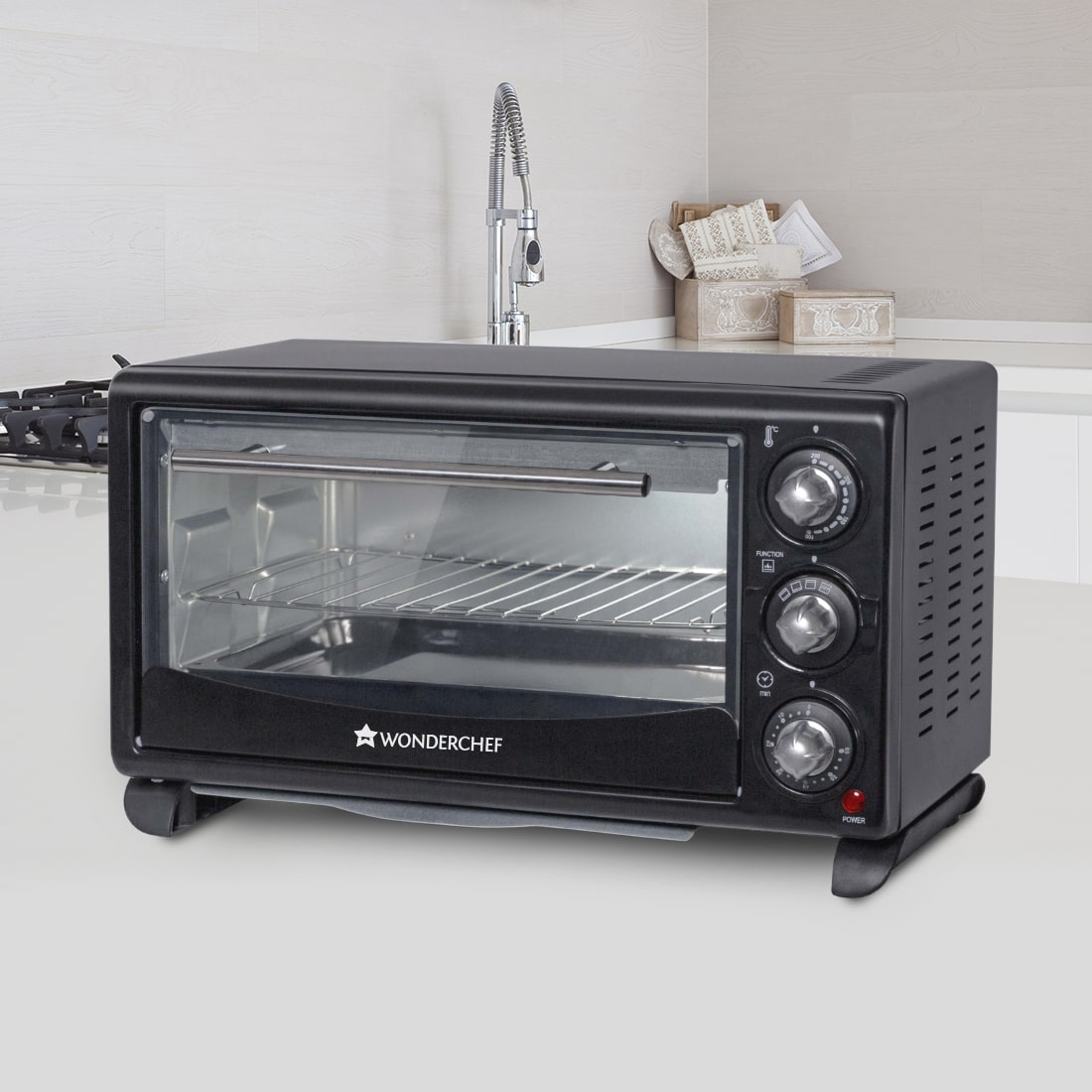 Oven Toaster Griller (OTG) 21 Litres, Auto Power-Off with Bell, Heat Resistant Glass Window, 2 Years Warranty- 1380W