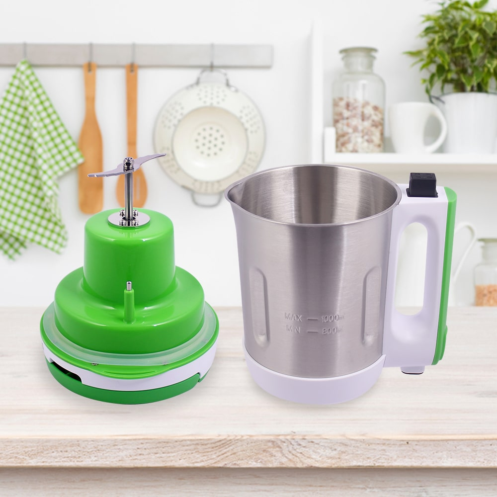 Soup Maker 1L, 800W, Green and Silver