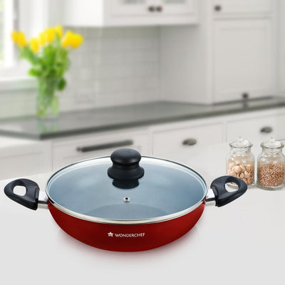 Wonderchef Ruby Series 26Cm Wok With Lid - 2.95L