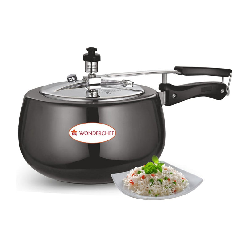 Wonderchef Raven Pressure Cooker Hard Anodized Inner SS Lid with Induction Base 3L