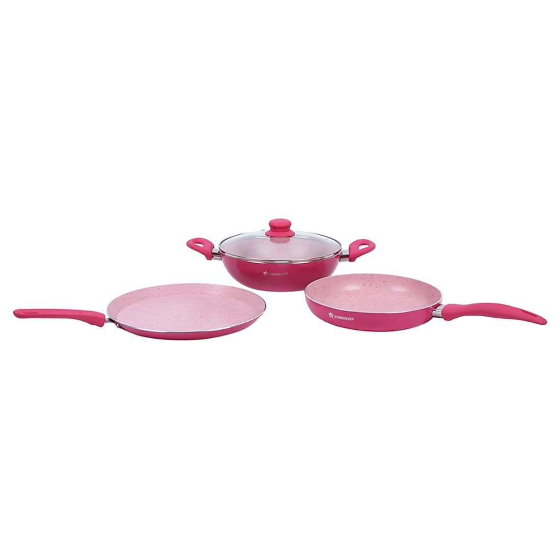 Wonderchef French Blossom Pink Set