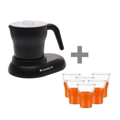 Wonderchef Bormioli Ypsilon Shot Glass + Cuppaccino Maker-Combo