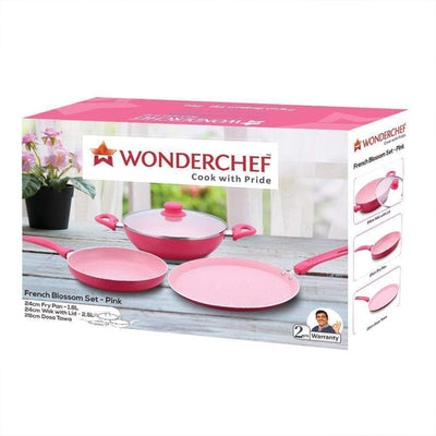 Wonderchef French Blossom 4Pc Set (Induction Base)-Cookware