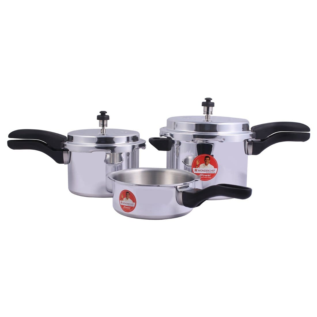 Wonderchef Power Pressure Aluminium Cooker Combo, 2,3,5L