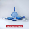 Royal Velvet Aluminium Nonstick Cookware Set, 5Pc, Blue