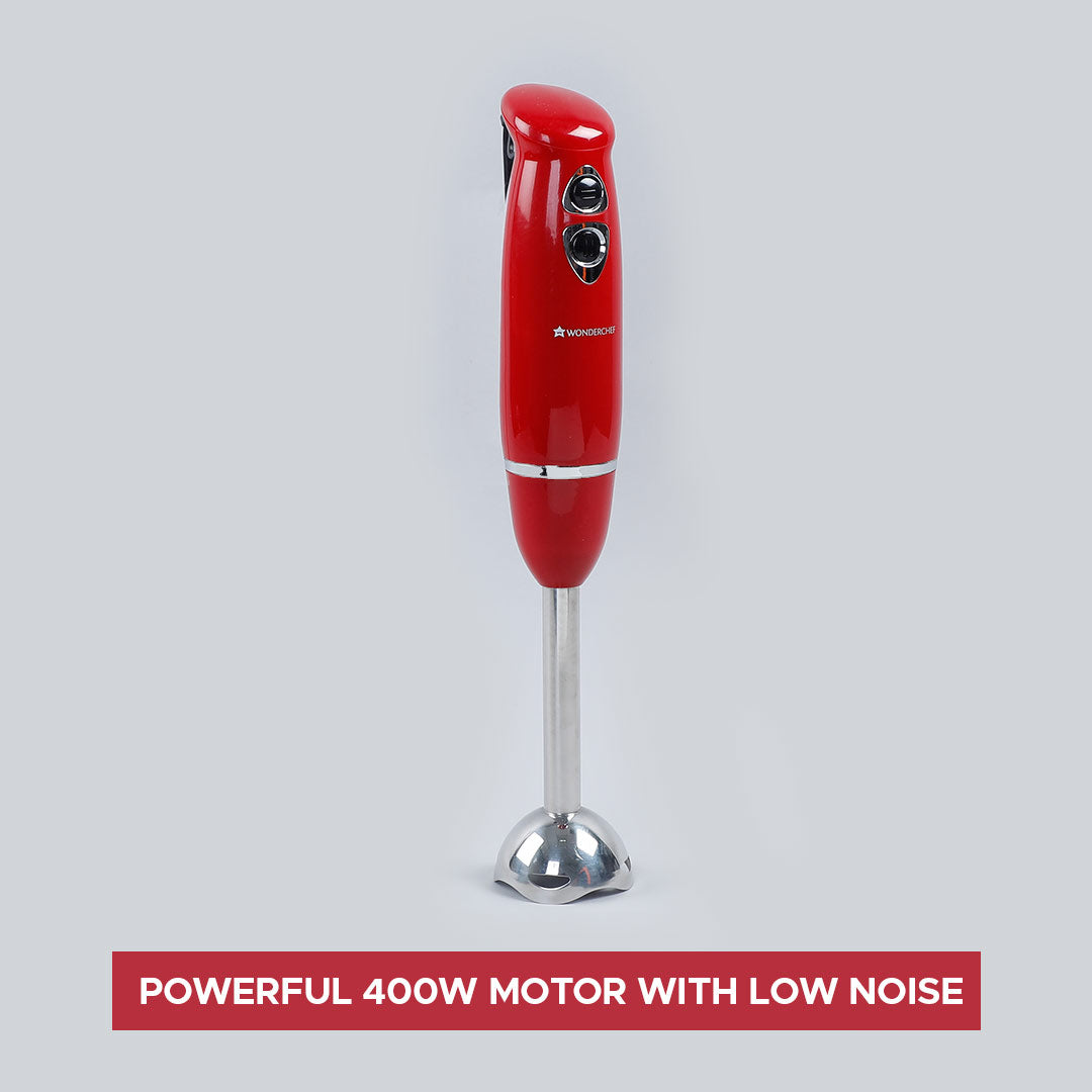 Crimson Edge Hand Blender, 400W