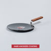 Ebony hard anodized Aluminium Roti Tawa ,28cm, 4.88mm, Grey