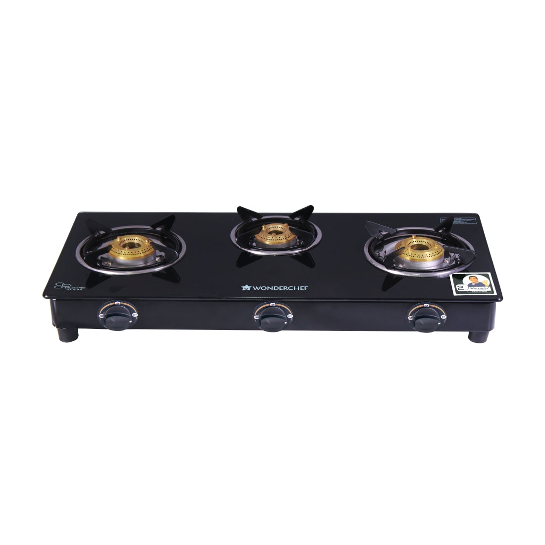 3 Burner Glass Cooktop