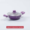 Royal Velvet Aluminium Nonstick Wok With Lid , 3mm, Purple