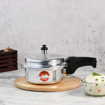 Wonderchef Ultima Induction Base Aluminium Pressure Cooker With Outer Lid-Cookware