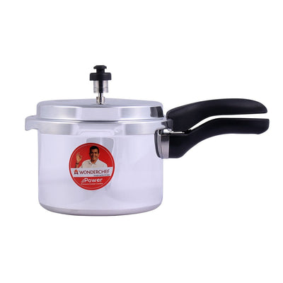 Power Induction Base Aluminium Pressure Cooker with Outer Lid, 3L-Cookers