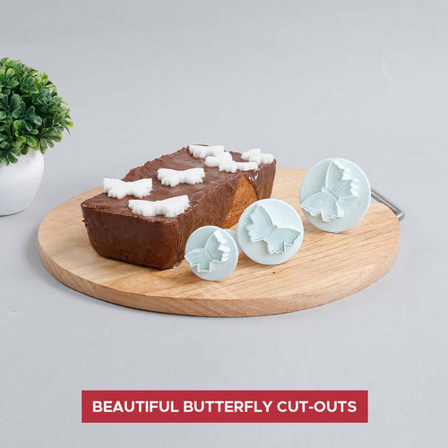 Ambrosia Plunge Cutter - Butterfly Shape, 3Pc