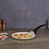 Romano Warm White Aluminium Nonstick Dosa Tawa - 24cm, 3mm, Black