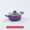 Royal Velvet Aluminium Nonstick Casserole With Lid 3mm, Purple