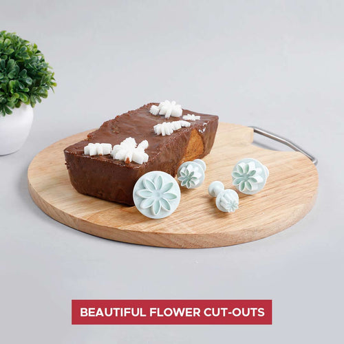 Ambrosia Plunge Cutter - Flower Shape, 4Pc