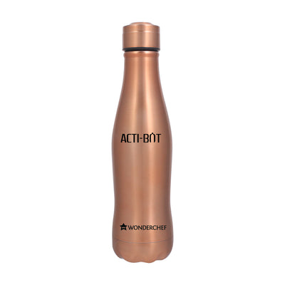 Acti-Bot Stainless Steel Single Wall Water Bottle, 650ml-Flasks