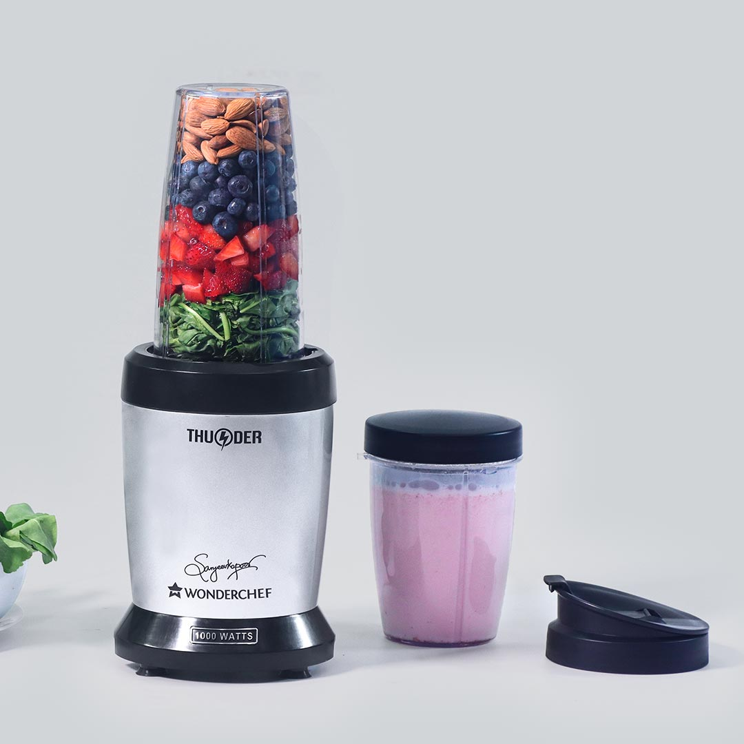 Nutri-Blend Thunder, 1000 W, SS Blades, 2 Unbreakable Jars, 2 Years Warranty-Silver