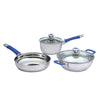 Stanton Stainless Steel Cookware Set, 5Pc, Blue