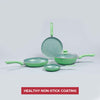 Royal Velvet Aluminium Nonstick Cookware Set, 5Pc, Green