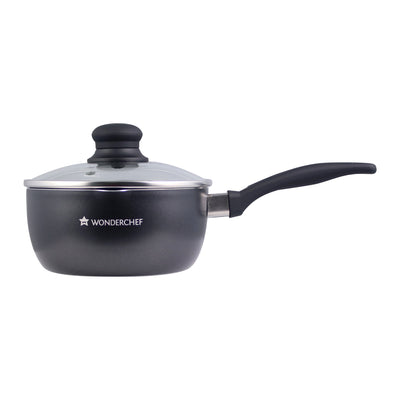 Wonderchef Premia Sauce Pan With Lid 16cm-Cookware