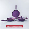 Orchid Aluminium Nonstick Cookware Set, 4Pc, Purple