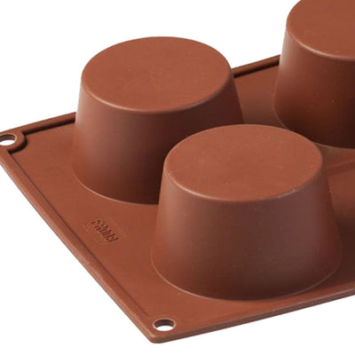 Pavoni Platinum silicon Muffin 6 Portions Mould-Bakeware