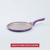 Royal Velvet Aluminium Nonstick Dosa Tawa with Raised Lip, 3.5mm, Purple