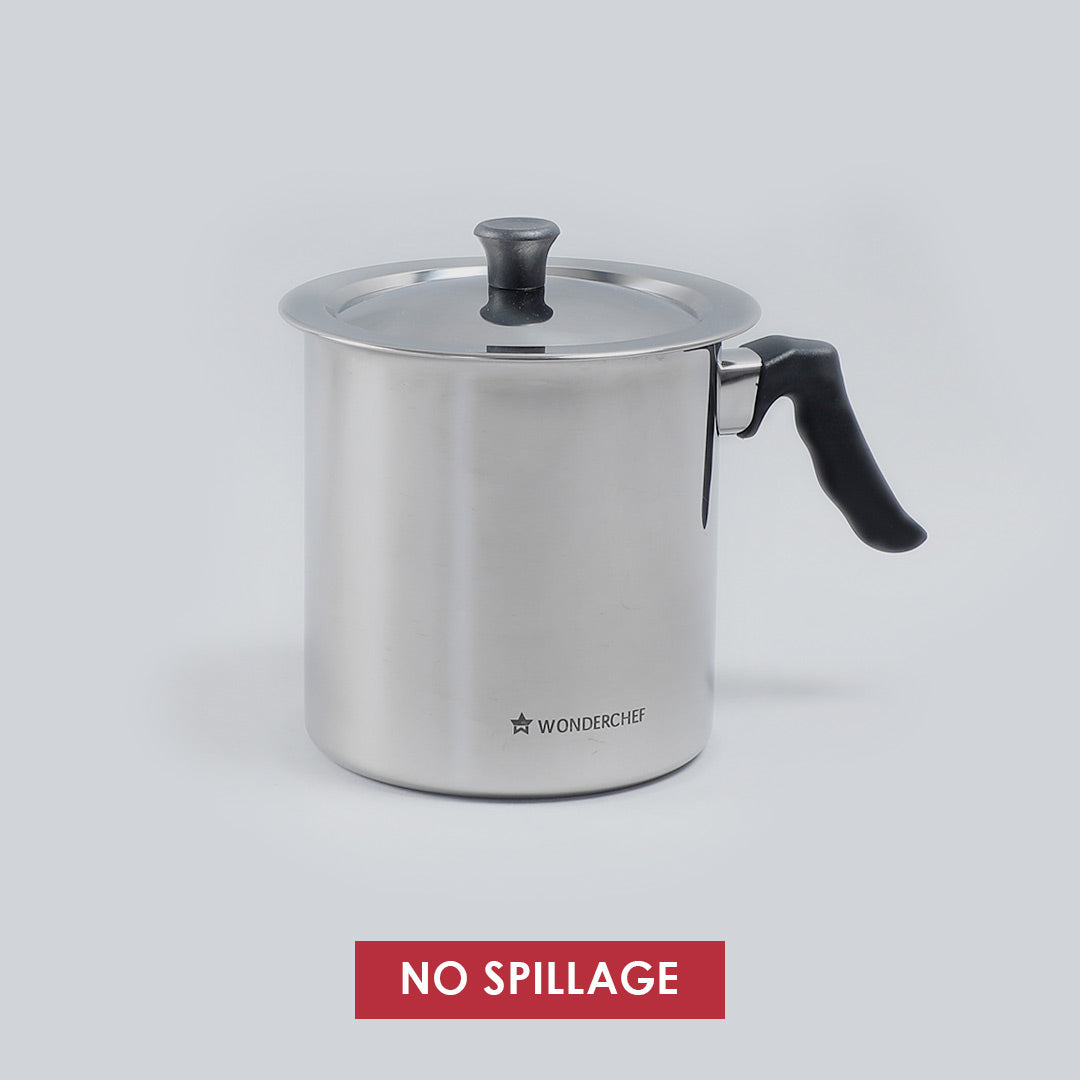 Stainless Steel Milk Boiler with Whistle- 2L