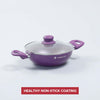 Royal Velvet Aluminium Nonstick Wok With Lid  3mm, Purple