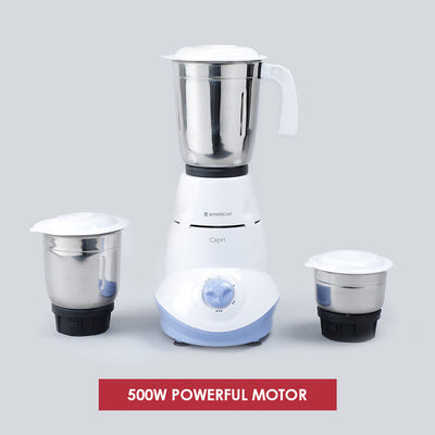 Capri 500W Mixer Grinder with 3 Jars (Blue)-Mixer-Grinders