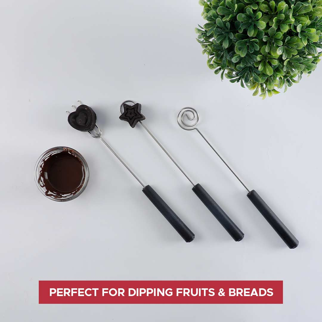 Ambrosia Stainless Steel Dipping Forks Set - 3Pc