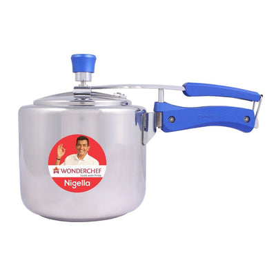 Wonderchef Nigella Inner Lid Pressure Cooker SS Regular 3L-Cookware
